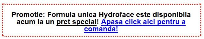 comanda hydroface in romania